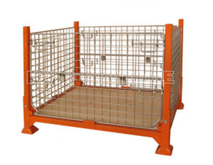 Warehosue Foldable Steel Wire Mesh Storage Cage pictures & photos