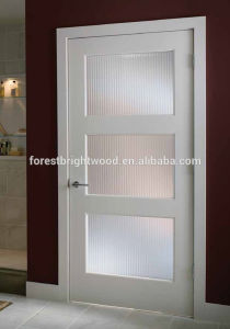 White Primer Shaker Glass Door Design for Living Room pictures & photos