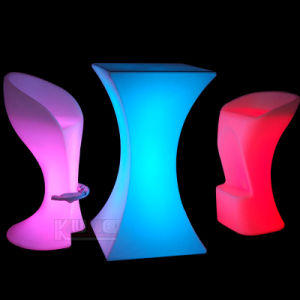 Party Light Furniture LED Light Furniture Outdoor Table and Chairs pictures & photos