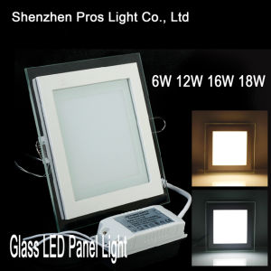 Square Shape Glass Panel LED Light, Ceiling Downlight 18W pictures & photos
