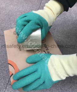 Polyester Work Glove with Latex Coating on Palm (LY2012) pictures & photos
