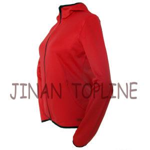 Women Hoody Micro Fiber Elastic Fleece Leisure Jacket Sports Wear pictures & photos