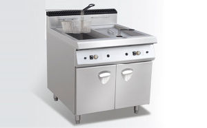 Two Tank Fryer with Cabinet