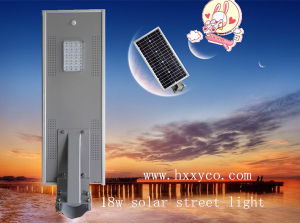 Motion Sensor Integrated 18W 2years Warranty Solar LED Street Light pictures & photos