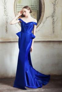 High Quality Elegant Floor Length A-Line Side Slit Red Chiffon Elie Saab Dress Sale (WD64) pictures & photos