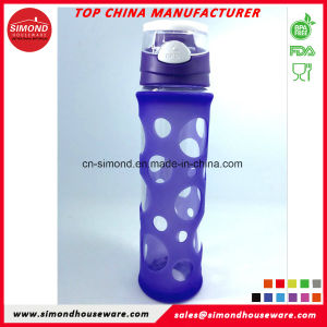 500ml Borosilicate Glass Water Bottle with Silicon Sleeve GB-A3 pictures & photos