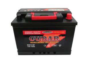 DIN75 12V75ah Mf Car Battery/ JIS Mf Auto Battery/Storage Battery/Starting Car Battery pictures & photos