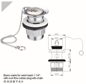Bathroom Sink Drain Basin Waste Drainer (With Plug) pictures & photos