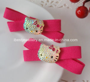 Fashion Hello Kitty Hair Accessories for Children -Plastic Hello Kitty Hair Clip H061e pictures & photos