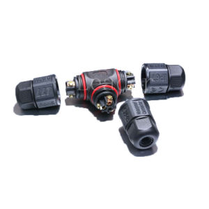 Cable Junction 3-Way Cross Type Waterproof Connector pictures & photos