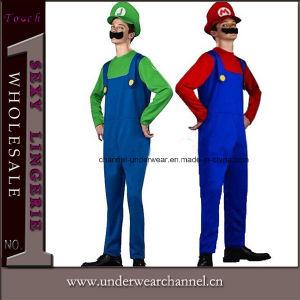 Halloween Men′s Deluxe Mario Luigi Costume Carnival Items (0050) pictures & photos