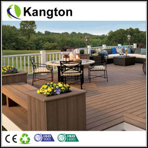 WPC Outdoor Flooring Grooved Anti-Slip Decking (decking) pictures & photos