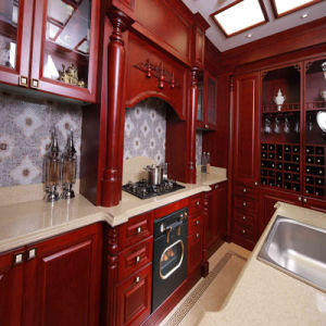 Solid Wood Luxurious European Style Kitchen Furniture pictures & photos