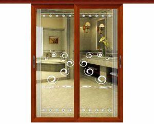 2014 New Productt Aluminium Hanging Glass Interior Door pictures & photos