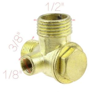 "1/8"" 3/8"" 1/2"" Thread Brass Air Compressor Check Valve Gold Tone pictures & photos"