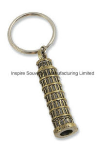 Fashion Bronze Tower Shape 3D Metal Key Tag (SK842) pictures & photos