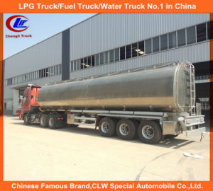 Heavy Duty 3 Axle Stainless Steel Fuel Tank Truck Trailer Jet A1 Tank Trailer pictures & photos