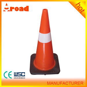 70cm PVC Traffic Cone with Black Base pictures & photos