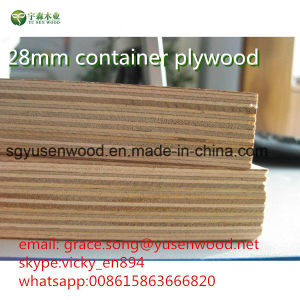 28mm Container Plywood Flooring Plywood pictures & photos