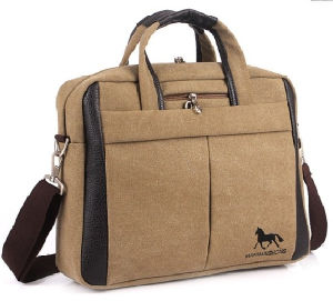 Canvas Cotton Sling Shoulder Notebook Laptop Computer Bag pictures & photos
