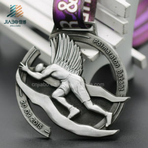 Jiabo Supply Custom Cut out Antique 3D Sports Metal Medal with Ribbon (JIABO-JP1071) pictures & photos