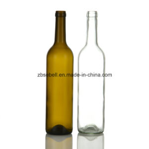 Height 323mm Bordeaux Wine Bottle Glass Bottle pictures & photos