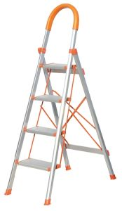 Household Steel Wide Step Ladder with Handrail pictures & photos