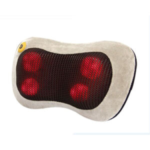 Electric Mini Car Use Infrared Heat Shiatsu Massage Neck Pillow pictures & photos