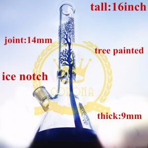Tobacco Glass Smoking Water Pipe High Quality Recycler Tobacco Tall Color Bowl Glass Craft Ashtray Glass Pipes pictures & photos