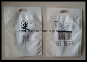 Die-Cut Handle Plastic Rice Pack Bag pictures & photos