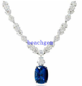 Luxury CZ 925 Sterling Silver Necklace (YN1022)