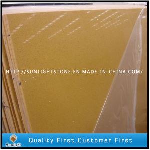 Artificial Yellow Quartz Stones for Kitchen Countertop pictures & photos