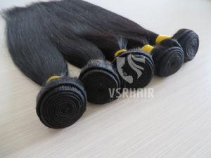Virgin Human Hair, Remy Hair, Black Color, Hair Extension