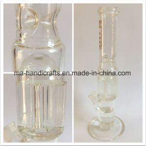 16 Inch Clear and Straight Glass Smoking Water Pipes with Arm Tree Perc pictures & photos