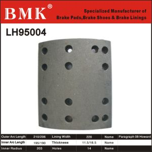 Environment Friendly Brake Lining (LH95004) pictures & photos