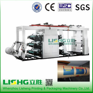 High Speed 6 Color Plastic Bag Flexo Printing Machine pictures & photos