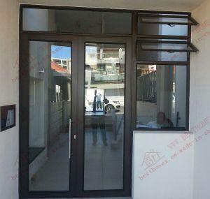 Powder Coating Aluminium Casement Door with Fanlight (BHA-DC27) pictures & photos