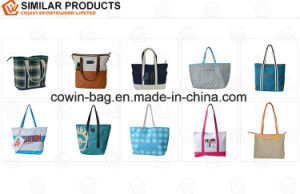 Allover Printed PU Leather Made Ladies Large Tote Bag pictures & photos