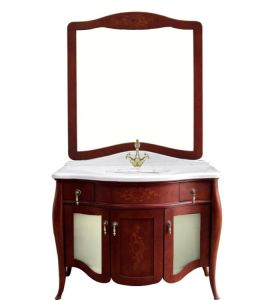 Cherry Wood Classical Bathroom Vanity