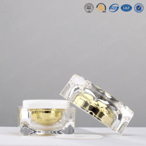 30g 50g High Quality Plastic Acrylic Square Luxury Cosmetic Packaging Jar pictures & photos