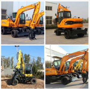 Xiniu Brand 8t 4X4wd Wheel Excavator X80-L, Yanmar Engine pictures & photos