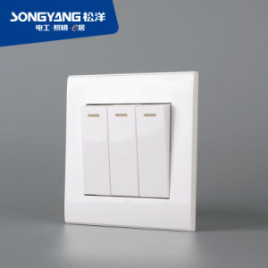 PC White Series 3gang Wall Switch