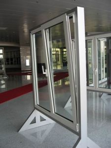 Aluminum Tilt &Turn Low E Double Glass Glazing Vertical Opening Windows