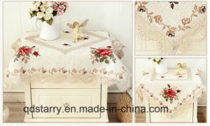 Hemstitch Linen Table Cover 2017 New Design pictures & photos