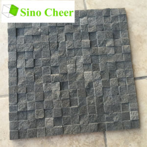 Split Face Stone Black Marble Mosaic Floor Tile Designs pictures & photos