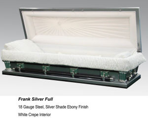 Frank Silver Full Couch Casket