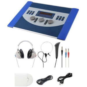 Professional Air and Bone Conduction Clinical Portable Diagnostic Audiometer for Hearing Test pictures & photos