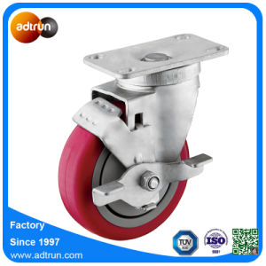 Medium Duty 4 Inch PU Casters with Brake pictures & photos
