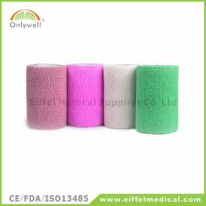 Colorful Medical Sport Self-Adhesive Cohesive Bandage Without Latex pictures & photos