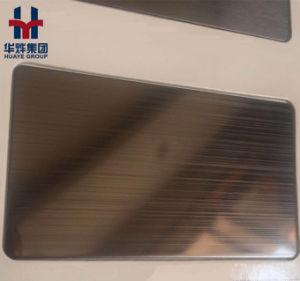 Black Titanium Stainlesss Steel Decorative Plates Hairline Brushed Mirror Vibration Sand Blasting pictures & photos